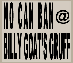 The New Braunfels CANBAN Does NOT apply to Billy Goats Gruff